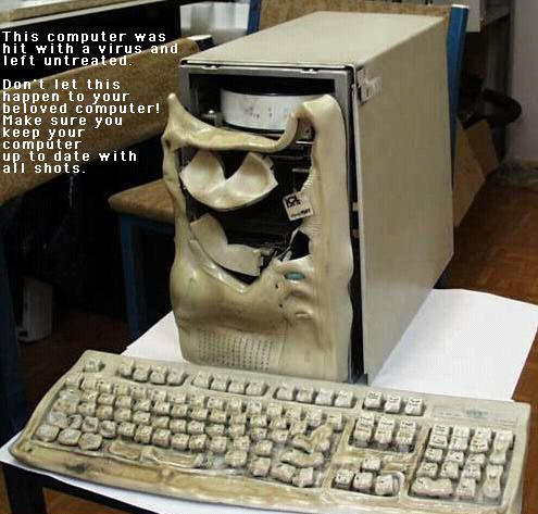 Computer destroyed